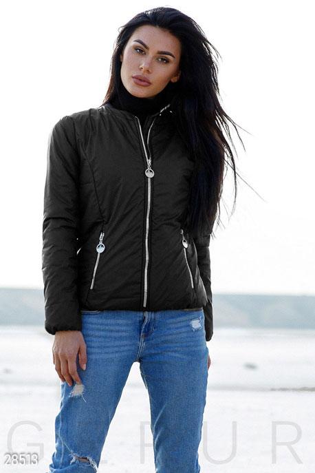 Купить Верхняя одежда / На синтепоне, Демисезонная женская куртка, Куртка-28513, GEPUR, черный