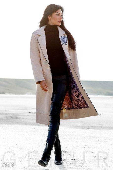 Прямое кашемировое пальто купить в интернет-магазине в Москве, цена 2134.48 |Пальто-28518