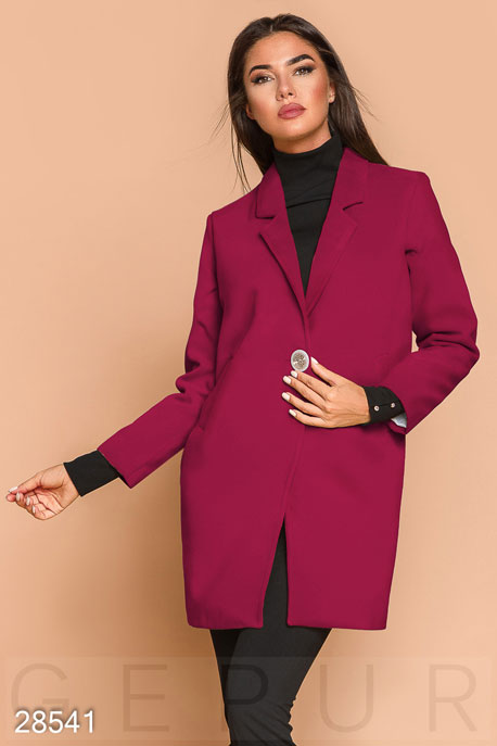 Яркое пальто-пиджак GEPUR