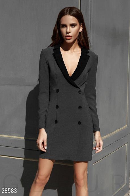 Короткое платье-пиджак