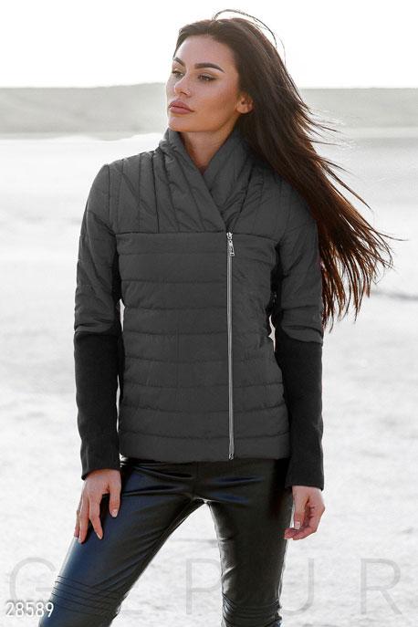 Купить Верхняя одежда / На синтепоне, Комбинированная женская куртка, Куртка-28589, GEPUR, черный