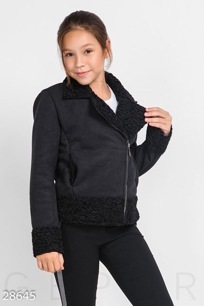 Купить Детская одежда, Детская куртка-дубленка, Куртка-28645, GEPUR, черный