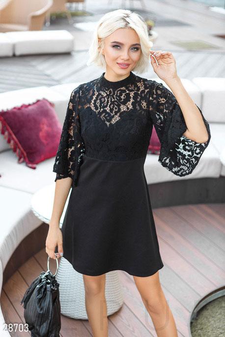 Купить Платья / Мини, Оригинальное праздничное платье, Платье-28703, GEPUR, черный