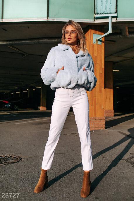 Купить Верхняя одежда / Premium, Теплая меховая куртка, Шуба-28727, GEPUR, нежно-голубой