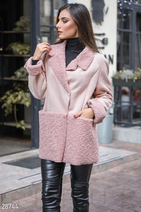 Купить Верхняя одежда / Куртки, Женская куртка-дубленка, Дубленка-28744, GEPUR, пудрово-розовый