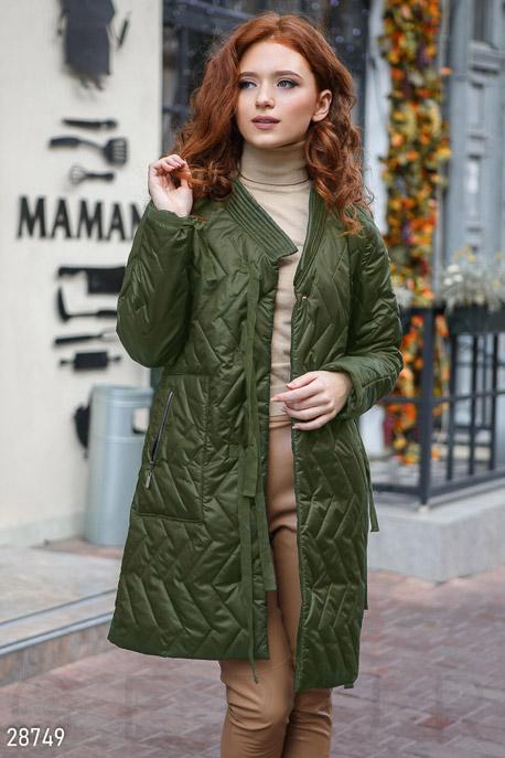 Демисезонное стеганое пальто GEPUR