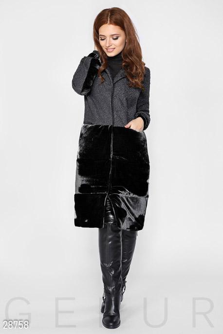 Комбинированное осеннее пальто GEPUR