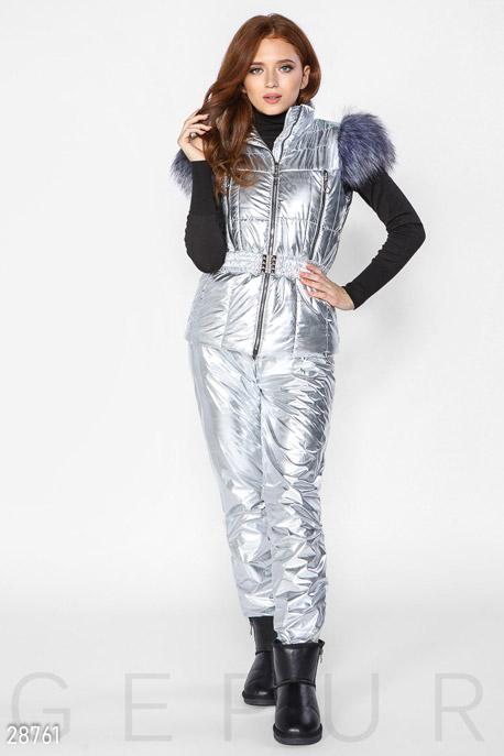 Зимний костюм с мехом