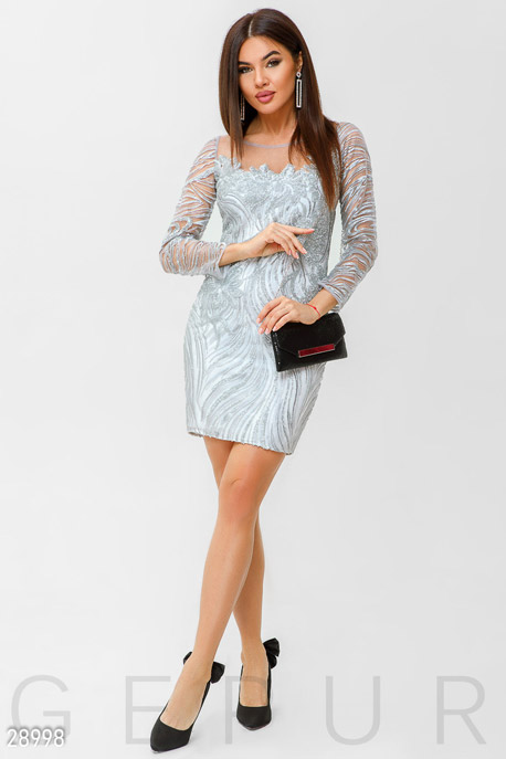 Декорированное коктейльное платье GEPUR