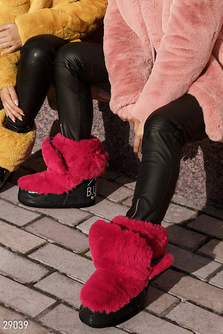 Купить Обувь / Premium, Сапоги-луноходы с мехом, Мунбуты-29039, GEPUR, серо-малиновый