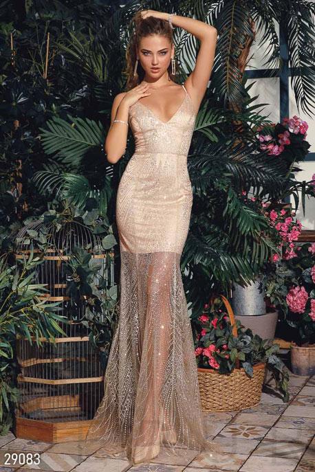 Купить Платья / Premium, Изящное платье-годе, Платье-29083, GEPUR, золотистый