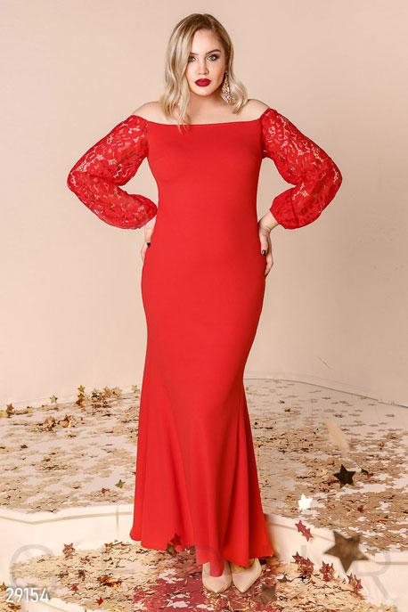 Гипюровое платье-мииди GEPUR