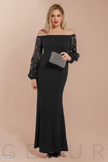 Купить Платья / Большие размеры, Платье с пышными рукавами, Платье(батал)-29155, GEPUR, черный