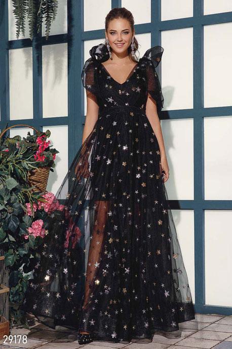 Купить Платья / Premium, Платье с эффектным декором, Платье-29178, GEPUR, черный