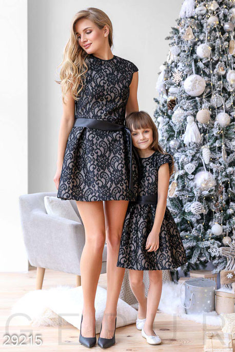 Купить Платья / Мини, Платье-мини с вышивкой, Платье-29215, GEPUR, черный