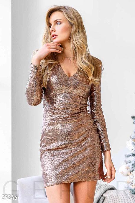 Облегающее платье с пайетками GEPUR