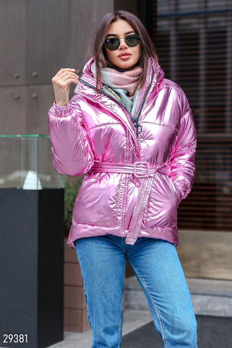 Купить Верхняя одежда / На синтепоне, Стильная утепленная куртка, Куртка-29381, GEPUR, розовый