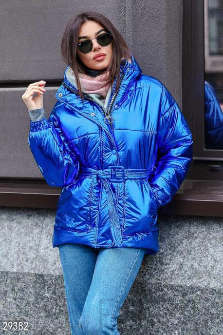 Купить Верхняя одежда / На синтепоне, Женская стеганая куртка, Куртка-29382, GEPUR, электрик