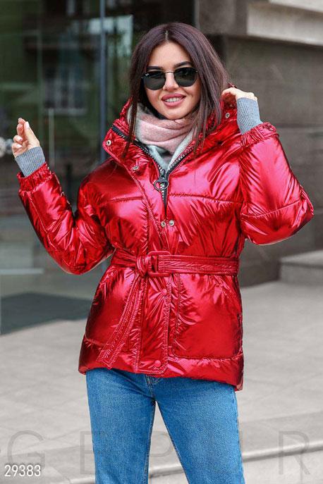 Купить Верхняя одежда / На синтепоне, Яркая стеганая куртка, Куртка-29383, GEPUR, красный