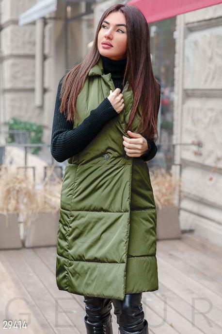 Купить Верхняя одежда / Утепленные, Стеганый жилет, Жилетка-29414, GEPUR, хаки