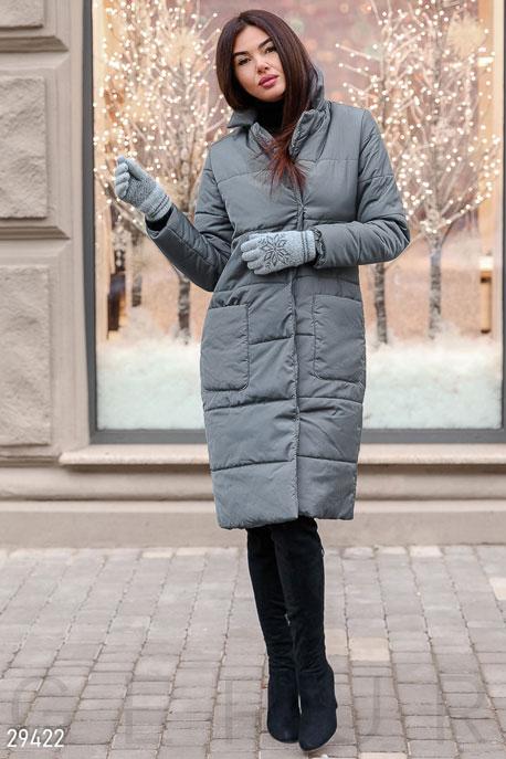 Купить Верхняя одежда / На синтепоне, Стеганое пальто, Куртка-29422, GEPUR, серый