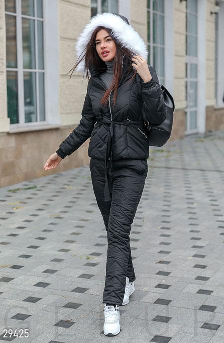 Купить Костюмы и комплекты / Низ брюки, Утепленный женский костюм, Костюм-29425, GEPUR, черный