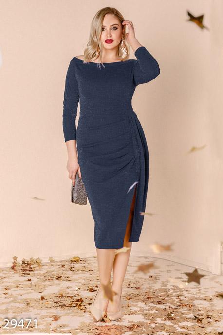 Платье с драпировкой GEPUR