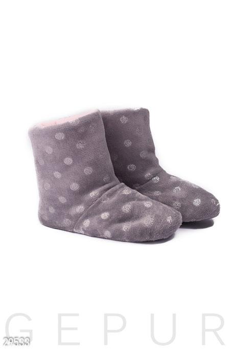 Купить Одежда для дома / Обувь, Меховые тапочки-сапожки, Тапочки-29533, GEPUR, серый