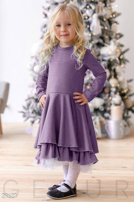 Купить Детская одежда, Платье с пышной юбкой, Платье-29627, GEPUR, сиреневый