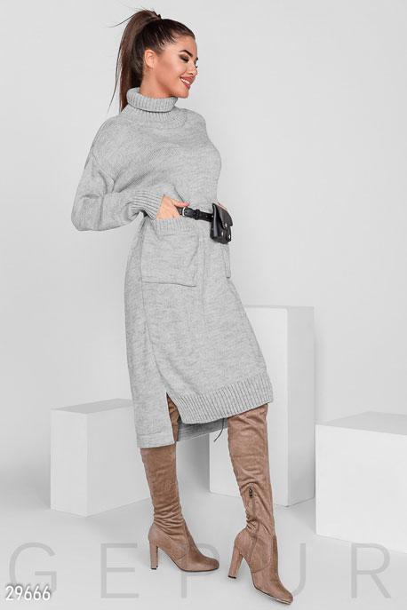 Купить Платья / Миди, Платье в стиле oversize, Платье-29666, GEPUR, серый меланж