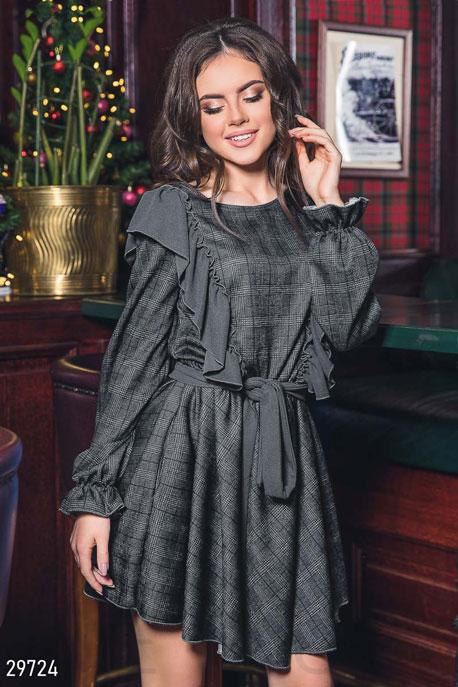 Платье с объемными рукавами GEPUR