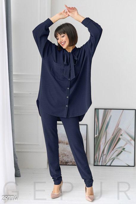Купить Костюмы и комплекты / Большие размеры, Костюм в стиле casual, Костюм-29774, GEPUR, темно-синий