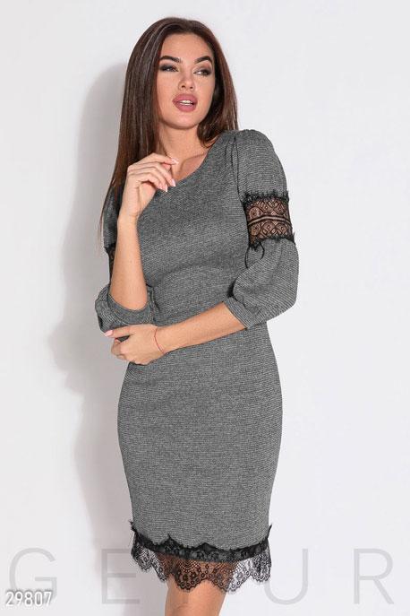 Трикотажное платье с кружевом GEPUR