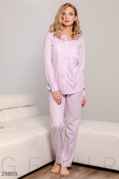Купить Нижнее бельё, пижама / Пижама, Полосатая женская пижама, Пижама-29809, GEPUR, фиалковый