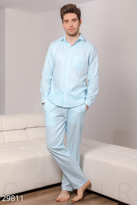 Купить Мужская одежда, Уютная пижама в полоску, Пижама-29811, GEPUR, светло-голубой