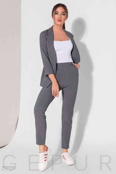 Купить Костюмы и комплекты / Низ брюки, Женский костюм в полоску, Костюм-29939, GEPUR, серый