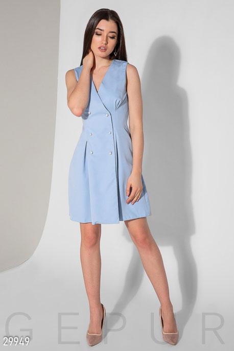 Купить Платья / Мини, Короткое платье без рукавов, Платье-29949, GEPUR, небесно-голубой