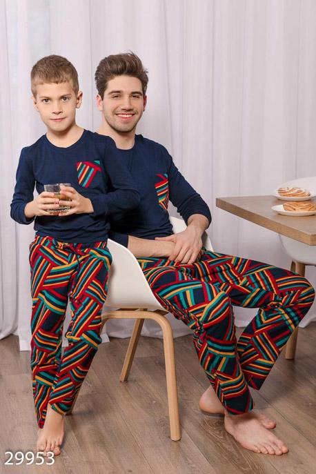 Купить Детская одежда, Уютная детская пижама, Пижама детская-29953, GEPUR, темно-синий