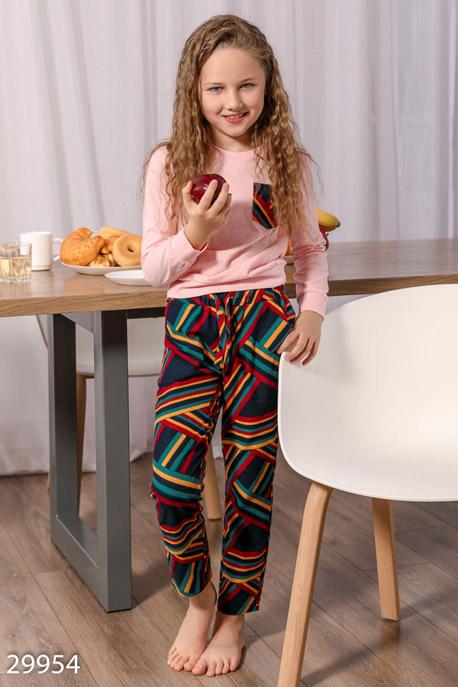 Купить Детская одежда, Теплая детская пижама, Пижама детская-29954, GEPUR, нежно-розовый