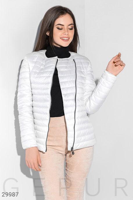 Куртка с асимметричной молнией GEPUR
