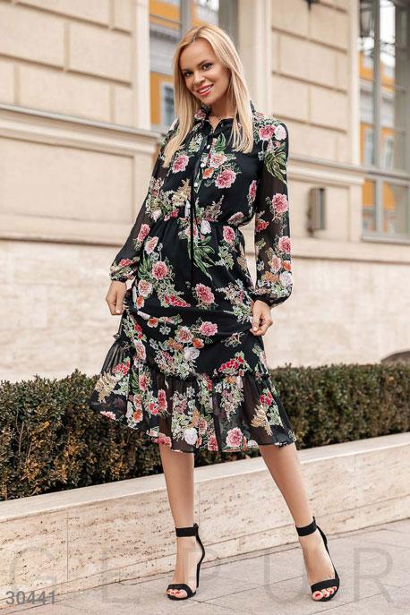Длинное цветочное платье GEPUR