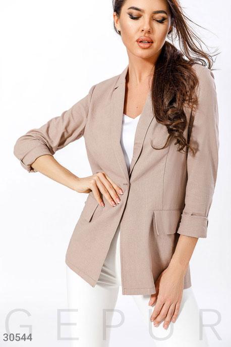 Купить Верхняя одежда / Пиджаки, Базовый женский пиджак, Пиджак-30544, GEPUR, бежевый