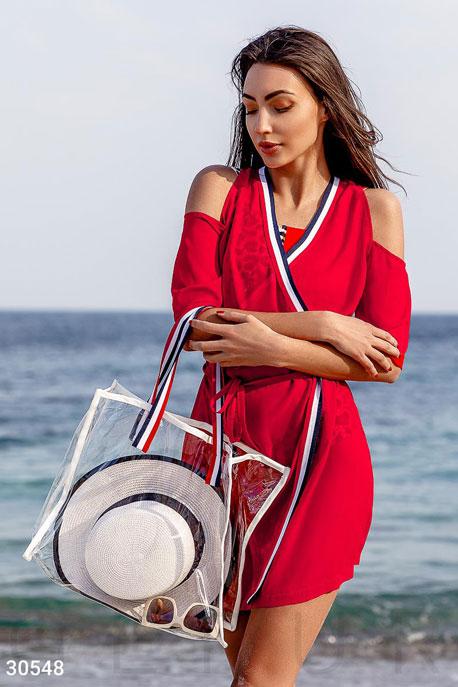 Шифоновая туника с сумкой