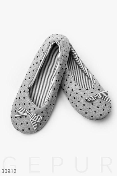 Купить Одежда для дома / Обувь, Уютные тапочки в горошек, Тапочки-30912, GEPUR, серый