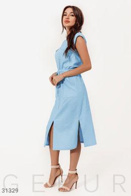 3d0bfa2d884 Льняное платье-миди - купить оптом и в розницу