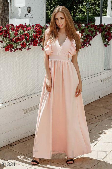 Купить Платья / На выпускной, Платье-макси с оборками, Платье-31331, GEPUR, персиковый