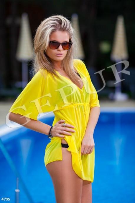 Желтая пляжная туника