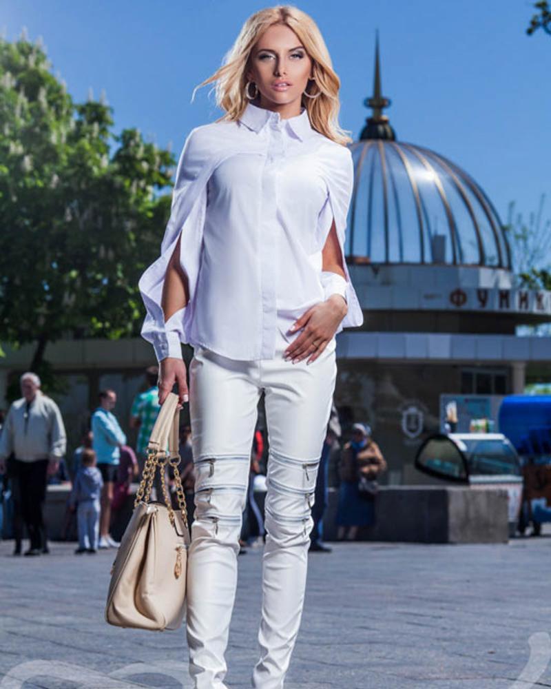 Оригинальная блуза-рубашка фото