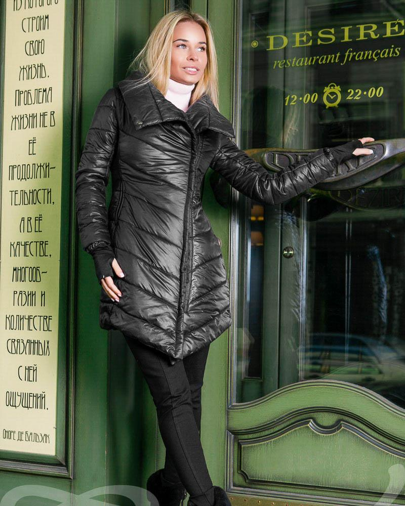 Купить Verhnyaya-odezhda_palto_palto-na-sintepone, Асимметричное стеганое пальто, Gepur