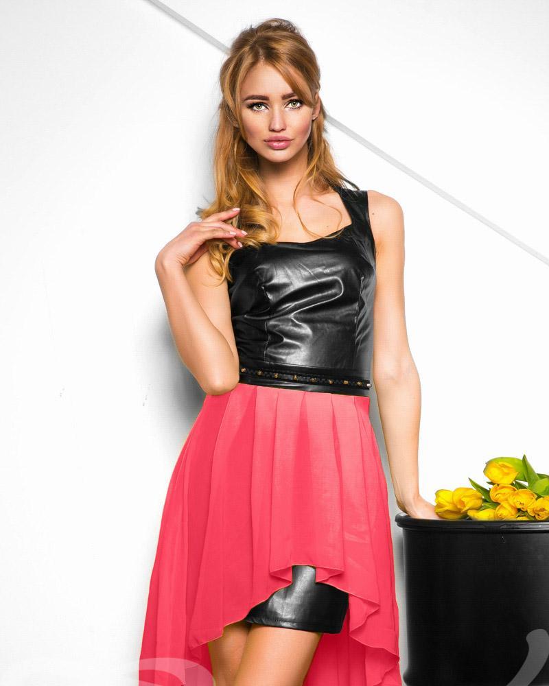 Облегающее кожаное платье фото